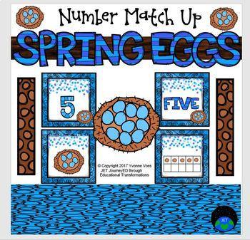 Spring Egg Number Match Up