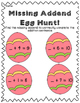 Spring Egg hunt - find the missing addend! common core aligned math practice