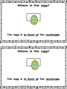 Spring Eggs Positional Words Booklet