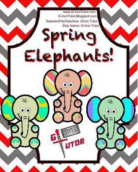 Spring Elephant Clip Art