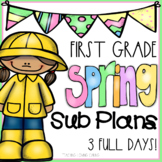 Spring Emergency Sub Plans - First Grade - Distance Learning