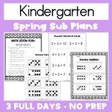 Emergency Sub Plans   Kindergarten   Spring