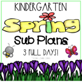 Spring Emergency Sub Plans - Kindergarten