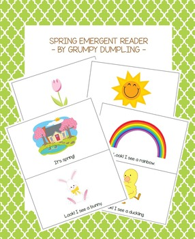 Spring Emergent Reader {C and B&W versions}