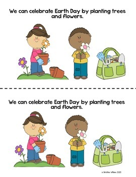 Earth Day! Spring Emergent Reader, With Main Idea and Writing Activity