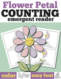 Spring Emergent Reader: Flower Petal Counting 0-10 (One to One Correspondence)