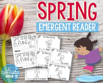 Spring Emergent Reader - Leveled Mini-book Prek, Kindergarten, Preschool, Pre-K