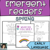 Spring Emergent Reader - Low/No Prep Language Therapy
