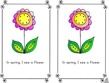 Spring Emergent Reader: Spring Words