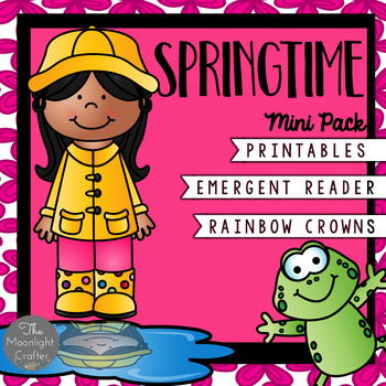Spring Emergent Reader with Rainbow Crowns and Printables