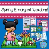Spring Emergent Readers Bundle Preschool, Kindergarten, Fi
