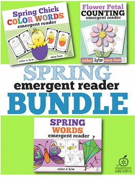 Spring Emergent Readers Bundle