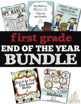 1st Grade End of the Year Bundle: Memory Books and Awards