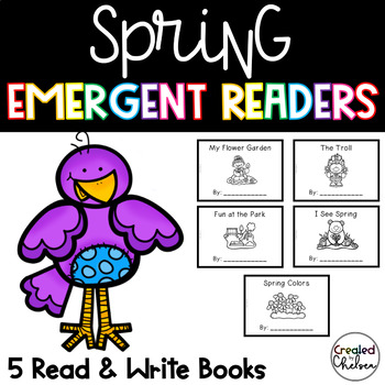 Spring Emergent Readers {Set of 5 Read and Write Books}