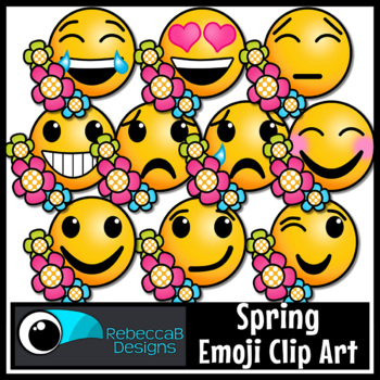 Spring Emoji Clip Art