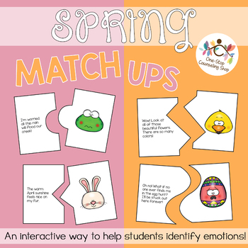 Spring Emotion Match-Up Puzzles