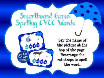Spring Ending Blends: Spelling CVCC Words for Smartboard or Promethean Board!