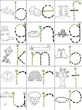 Spring - English - Snap cube activity mats
