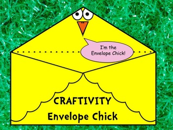 Spring Envelope Chick Craftivity - Great for Easter - Print and Go - NO PREP!