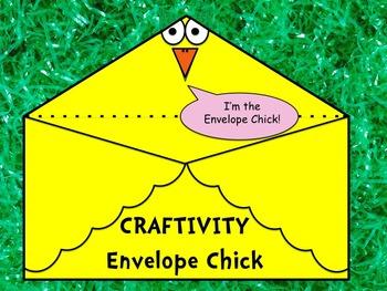 Spring Envelope Chick Craftivity - Great for Easter - Prin
