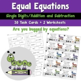 Spring Equal Equations using Single Digit Addition and Subtraction