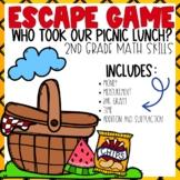 Spring Escape Room 2nd grade Math Skills