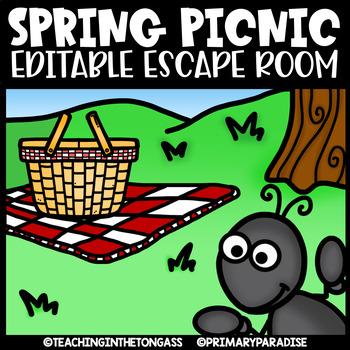 Spring Escape Room (Editable Escape Room Activities)