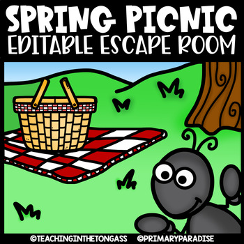 Spring Escape Room (Editable Escape Room Spring Activities)