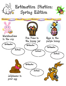 Spring Estimation Station and Fraction Activity