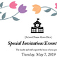 Spring Event Invitation or Flyer - Editable Word Doc