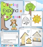Spring Expand a Sentence Pack Grammar Activities: Distance Learning