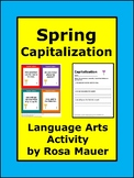 Spring Capitalization Task Cards
