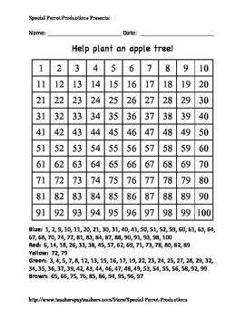 Spring - Apple Tree - Hundreds Chart!