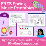 Spring FREEBIE | Primary Music Printables | Music Theory 3-Pack
