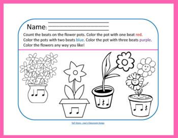 Spring FREEBIE   Primary Music Printables   Music Theory 3-Pack