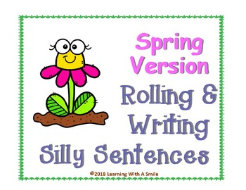 Spring FREEBIE - Roll and Write Silly Sentences