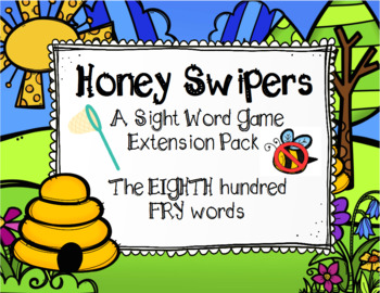 Spring FRY Sight Words Extension Pack (words 701-800)