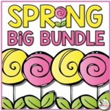 Spring Math, Science and Literacy Centers Activities BUNDLE