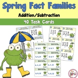 Spring Fact Family Addition and Subtraction Task Cards