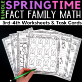 Spring Fact Family Worksheets and Task Cards
