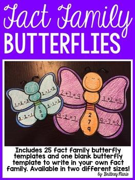 Spring Fact Family Butterflies