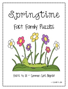 Spring Fact Family Puzzles
