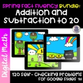 Spring Fact Fluency Bundle | Addition and Subtraction With