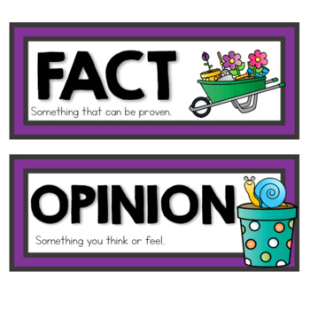 Spring Fact or Opinion Sort