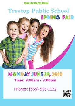 Spring Fair Poster, Fully Customizable