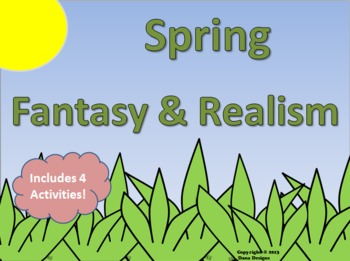 Spring Fantasy and Realism Activity Pack