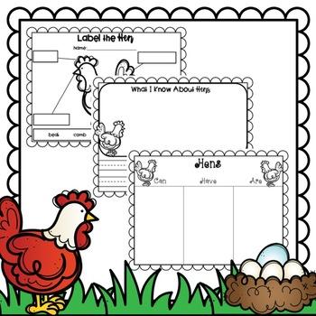 Spring Farm Hen on Nest
