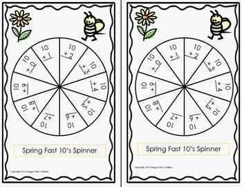 Spring Fast 10's Spinner Game and Four in a Row