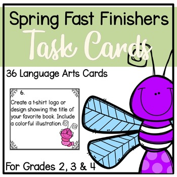 Spring Fast Finisher Task Cards-Language Arts