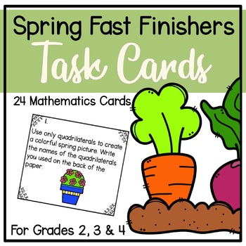 Spring Fast Finisher Task Cards-Math